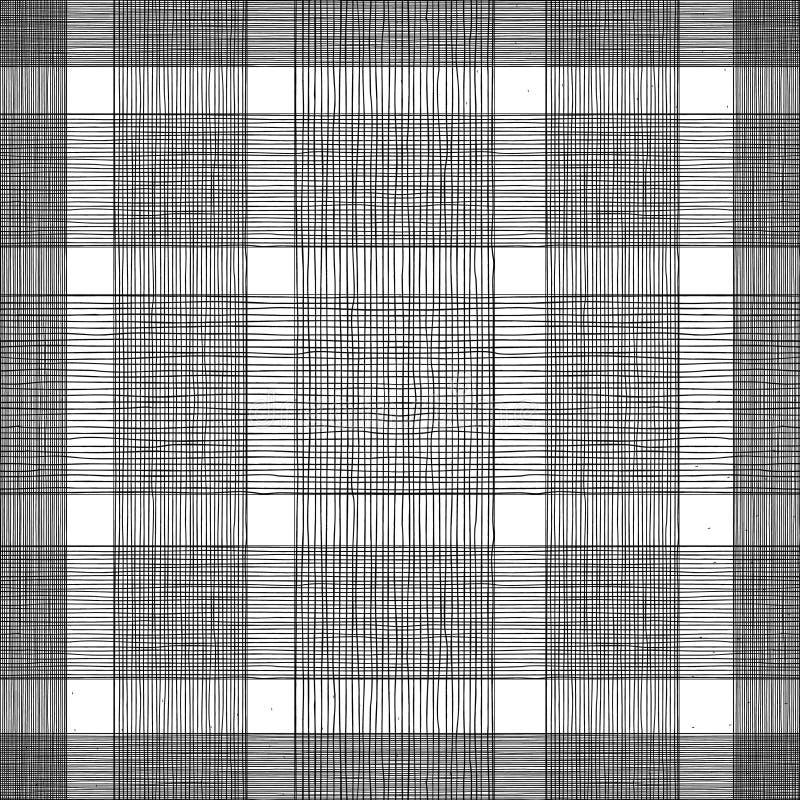 Linhas pretas horizontais e verticais ilustração stock