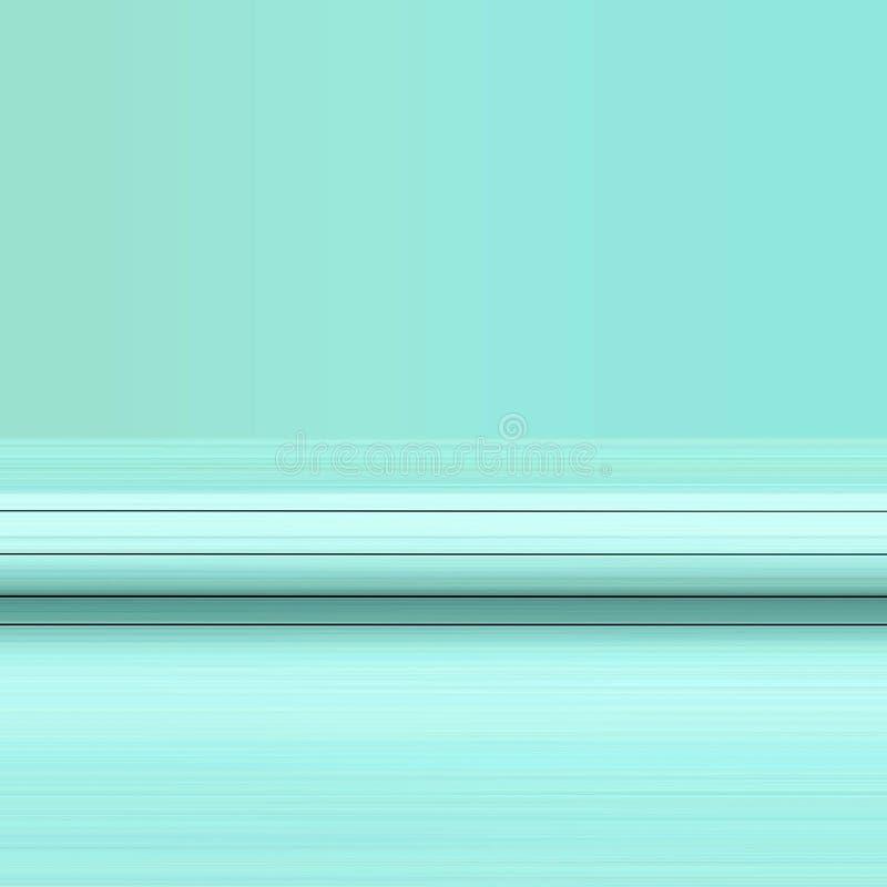 Linhas pretas no teste padrão azul ilustração stock