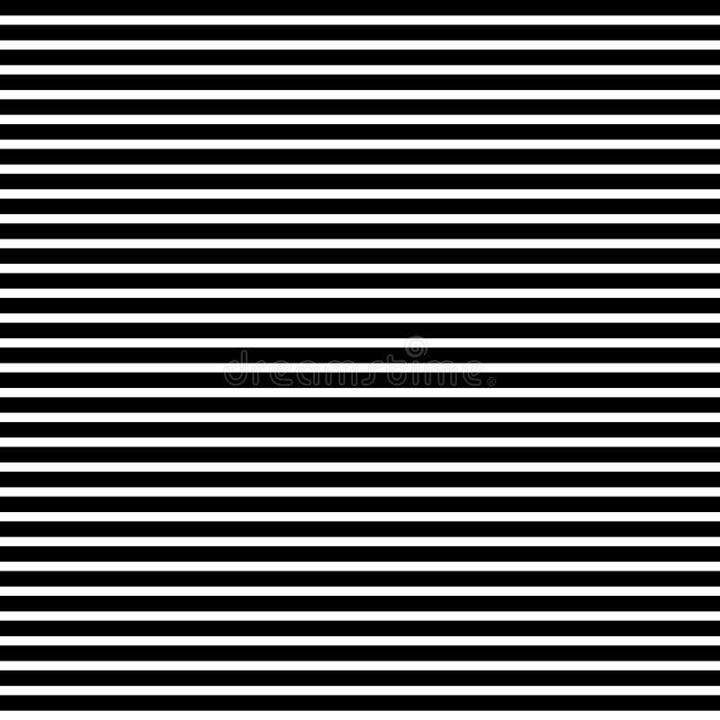 Linhas pretas retas horizontais teste padrão ilustração do vetor