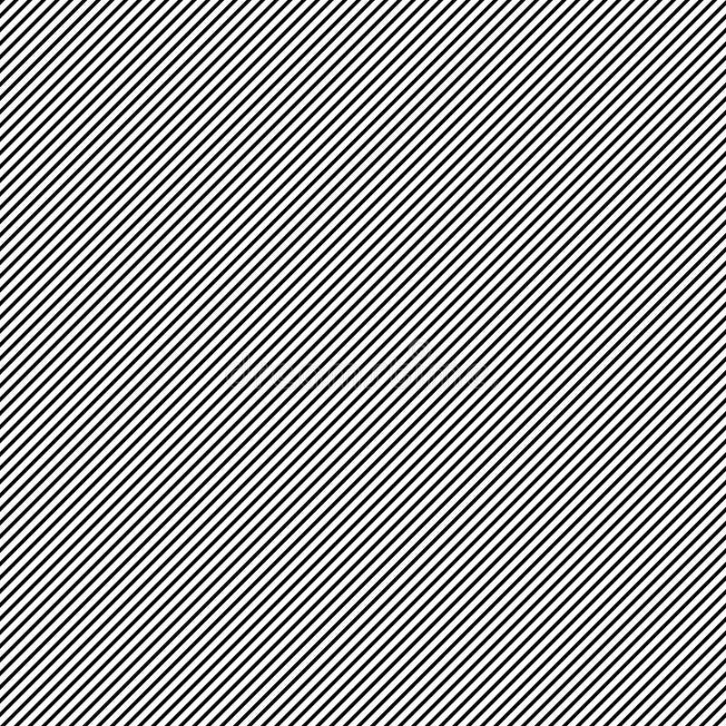 Linhas pretas retas oblíquas teste padrão foto de stock