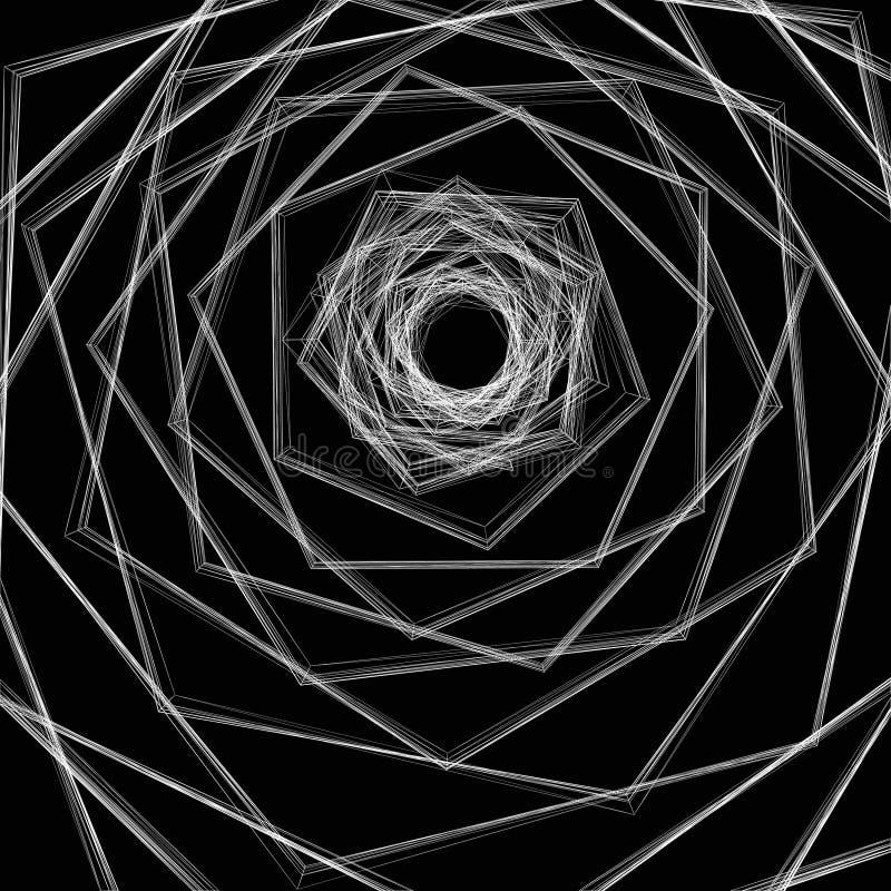 Linhas que dão forma a uma impressão alucinatória. ilustração do vetor