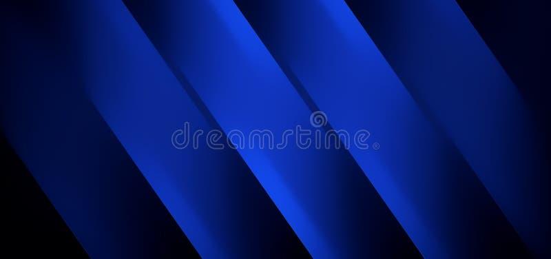 Linhas retas Techy sumário de preto azul imagens de stock
