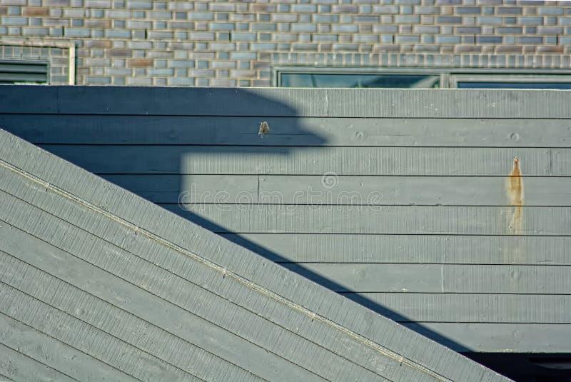 Linhas retas Texturas da madeira e do tijolo imagem de stock royalty free