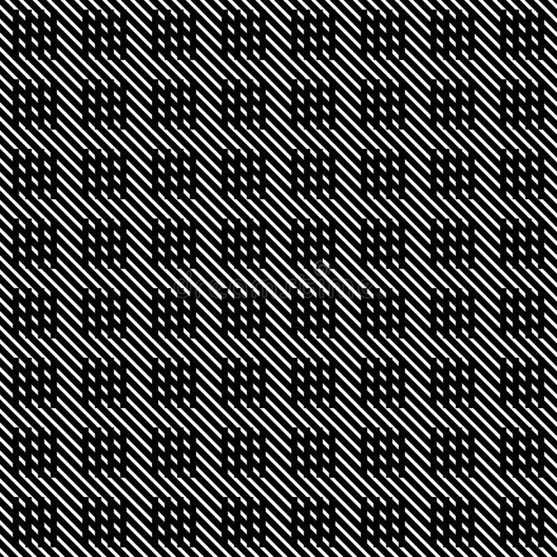 Linhas sem emenda teste padrão do vetor preto e branco Papel de parede abstrato do fundo Ilustração do vetor ilustração do vetor