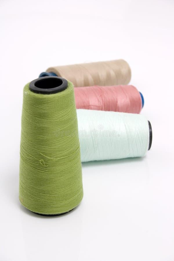 Linhas sewing da cor grande fotografia de stock