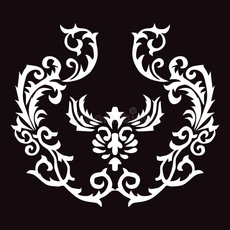 Linhas trançadas do sumário da seta da chama da tatuagem do teste padrão imagem de stock royalty free