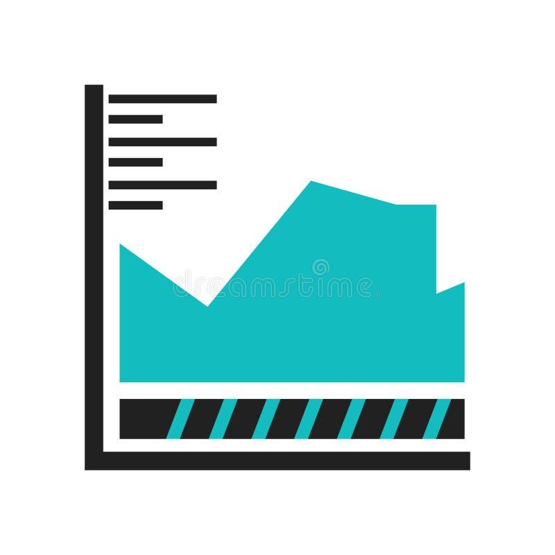 Linhas variáveis múltiplas sinal gráfico e símbolo do vetor do ícone isolados no fundo branco, linhas variáveis múltiplas logotip ilustração royalty free