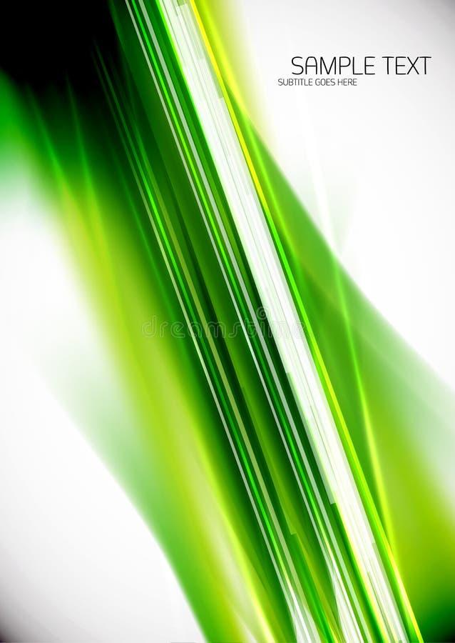 Linhas Verdes fundo ilustração stock