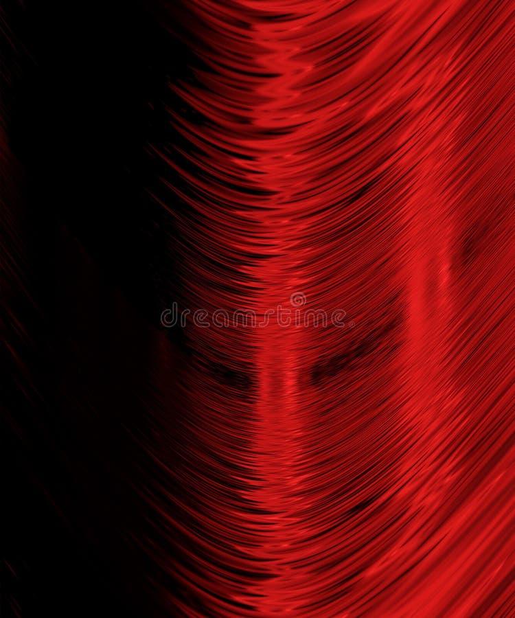 Linhas vermelhas curvadas no preto ilustração stock
