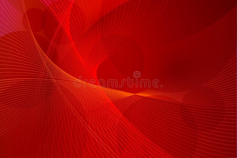Linhas vermelhas da onda do fundo do vetor ilustração royalty free