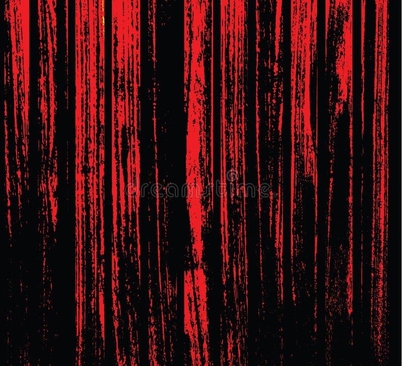 Linhas vermelhas e pretas estranhas De uma certa maneira olha como madeiras Fundo impressionante ilustração royalty free
