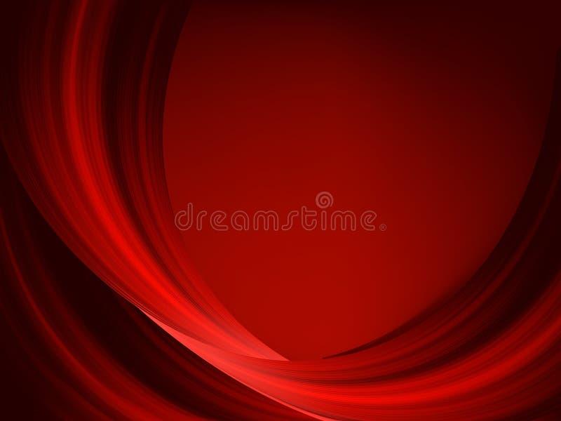 Linhas vermelhas finas abstratas em uma obscuridade. EPS 8 ilustração do vetor