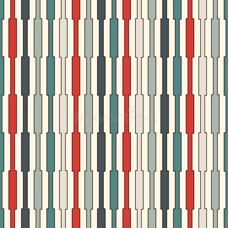 Linhas verticais fundo das cores retros Papel de parede minimalista Teste padrão sem emenda com ornamento geométrico Listra o mot ilustração royalty free