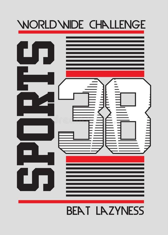 Linhas vetor dos esportes do time do colégio do cartaz dos números ilustração royalty free