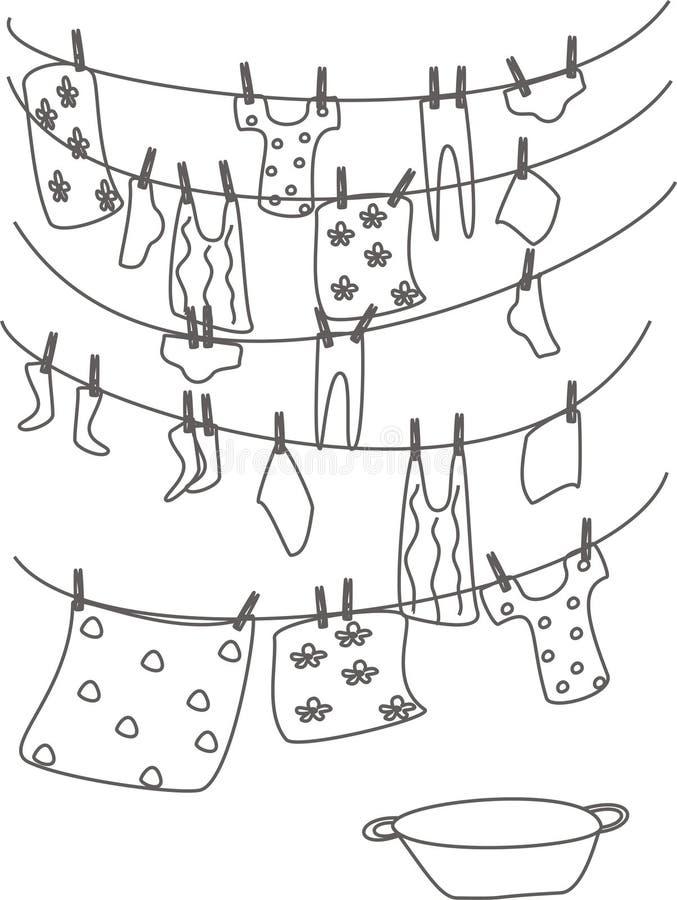 Linho lavado ilustração do vetor