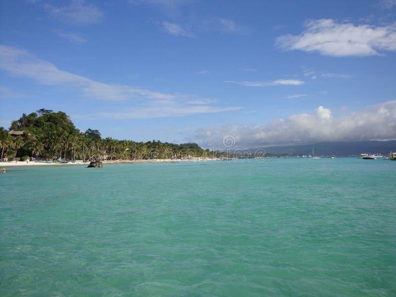 Linia brzegowa Boracay wyspa, Filipiny fotografia stock
