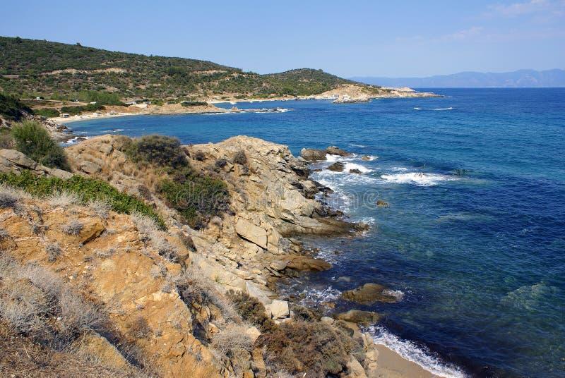 linia brzegowa greckiej obrazy stock