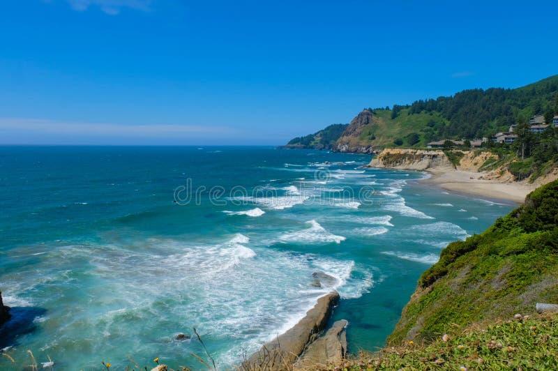 Linia brzegowa na Orgeon wybrzeżu, usa fotografia royalty free