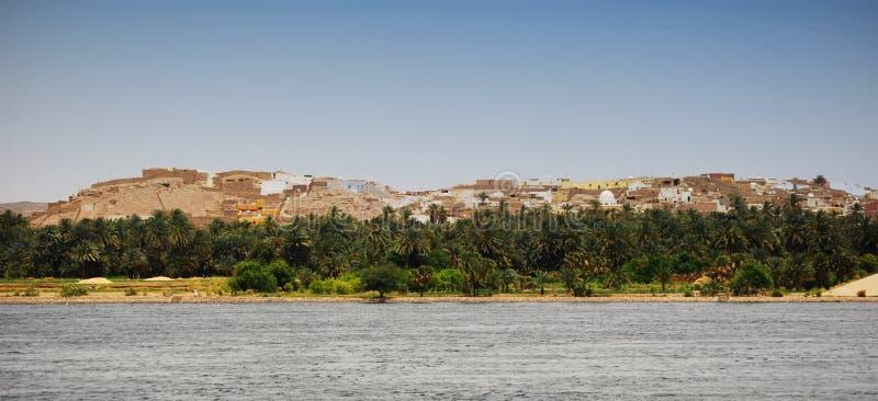 Linia brzegowa Nil rzeka, Egipt Nil rejs obraz royalty free
