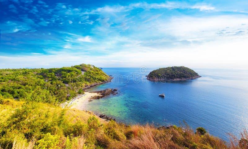 Linia brzegowa panoramiczny widok południowa część Phuket Tajlandia zdjęcie royalty free