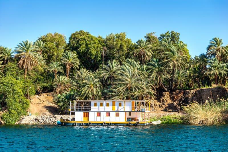 Linia brzegowa rzeczny Nil obraz royalty free
