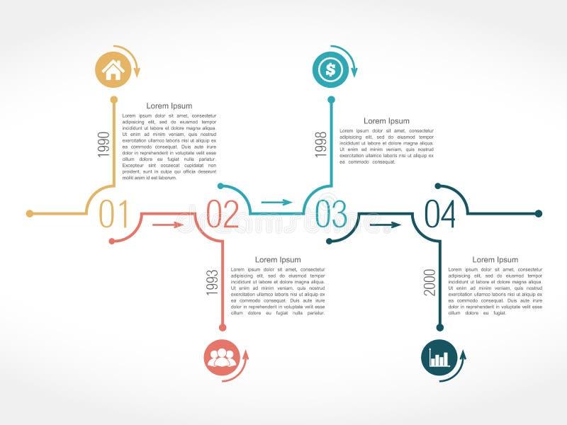 Linia czasu royalty ilustracja