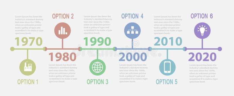 Linia czasu Infographic ilustracja wektor