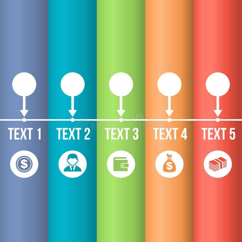Linia czasu Infographic z Biznesowymi ikonami royalty ilustracja