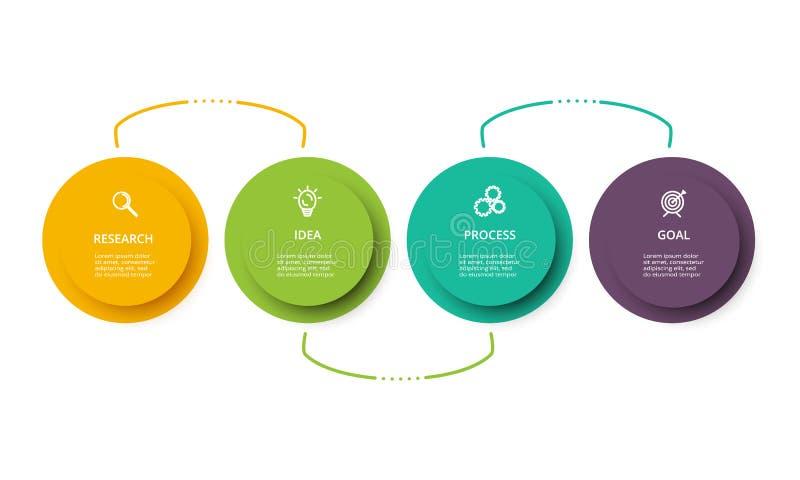 Linia czasu infographics projekta wektor i marketingowe ikony Biznesowy poj?cie z opcjami, krokami lub procesami 4, ilustracja wektor