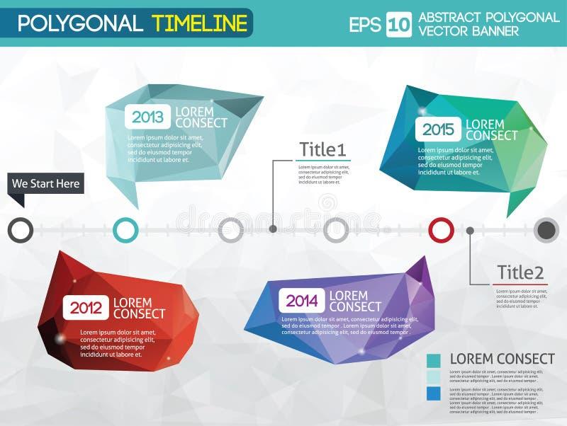 Linia czasu - różni tooltips ilustracja wektor