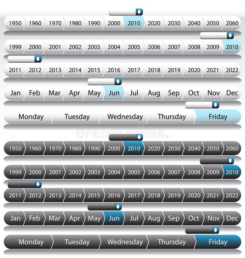 linia czasu rok ilustracji