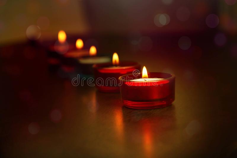 Linia dekoracyjne indianina Diwali lampy obraz royalty free