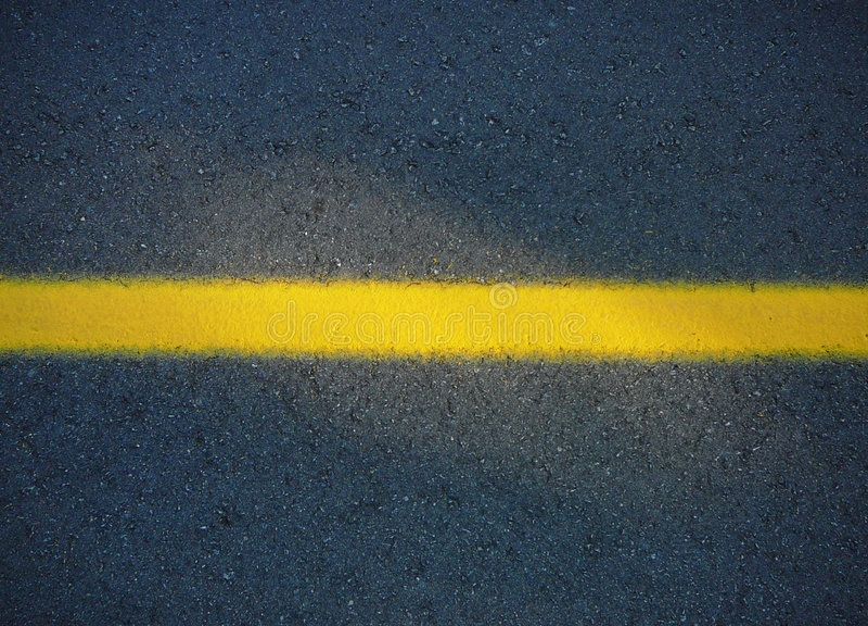 linia drogi żółty zdjęcia royalty free