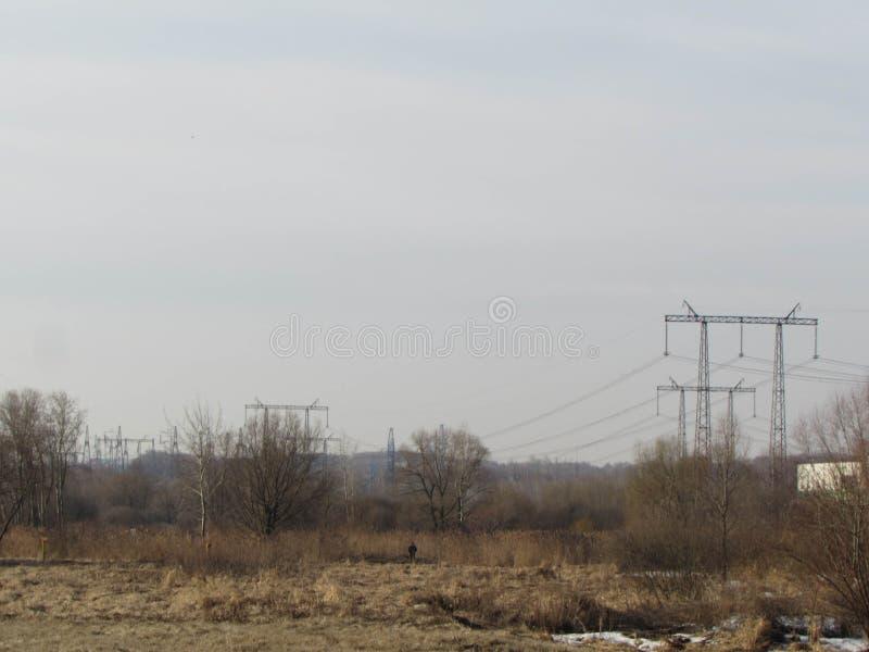 Linia energetyczna w Moskwa zdjęcie royalty free