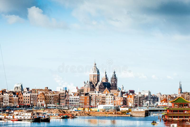 Linia horyzontu Amsterdam obrazy royalty free