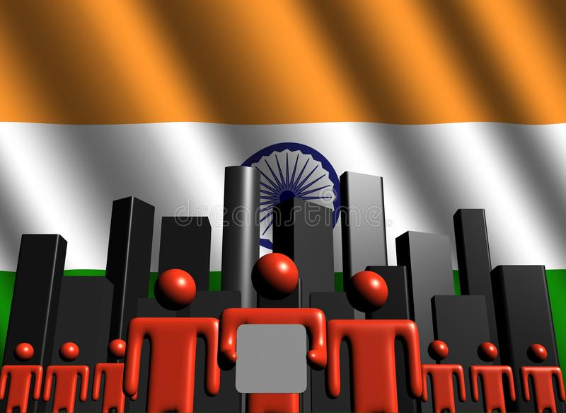 linia horyzontu biznesowa indyjska drużyna ilustracja wektor