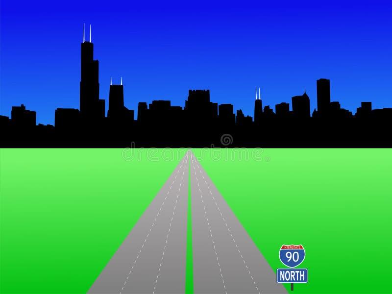 linia horyzontu chicago royalty ilustracja