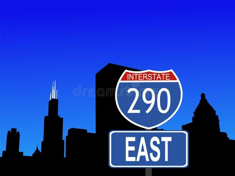 linia horyzontu chicago ilustracja wektor