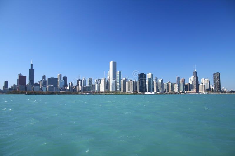 linia horyzontu chicago obrazy royalty free