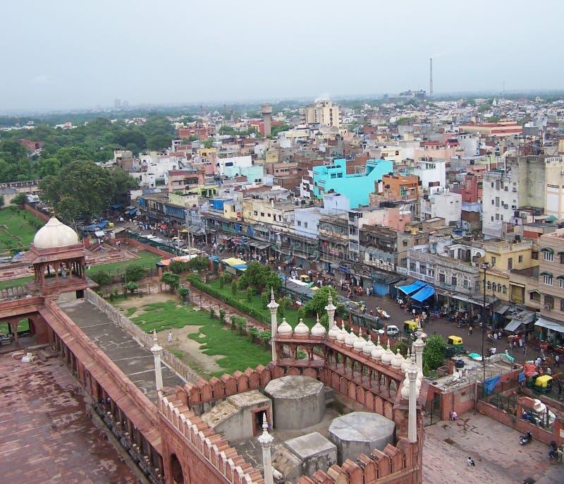 linia horyzontu delhi. zdjęcia stock