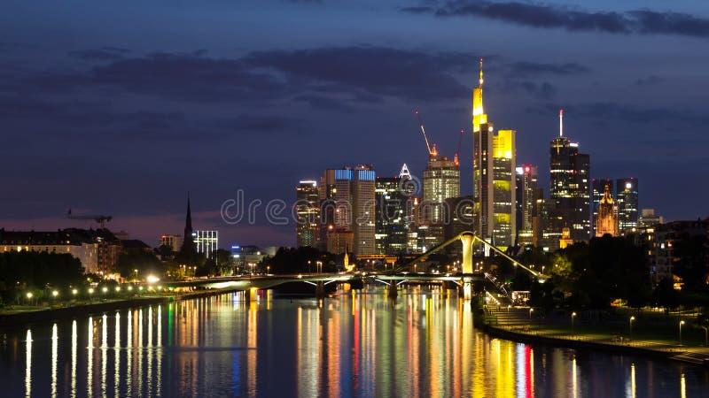 Linia horyzontu Frankfurt fotografia stock