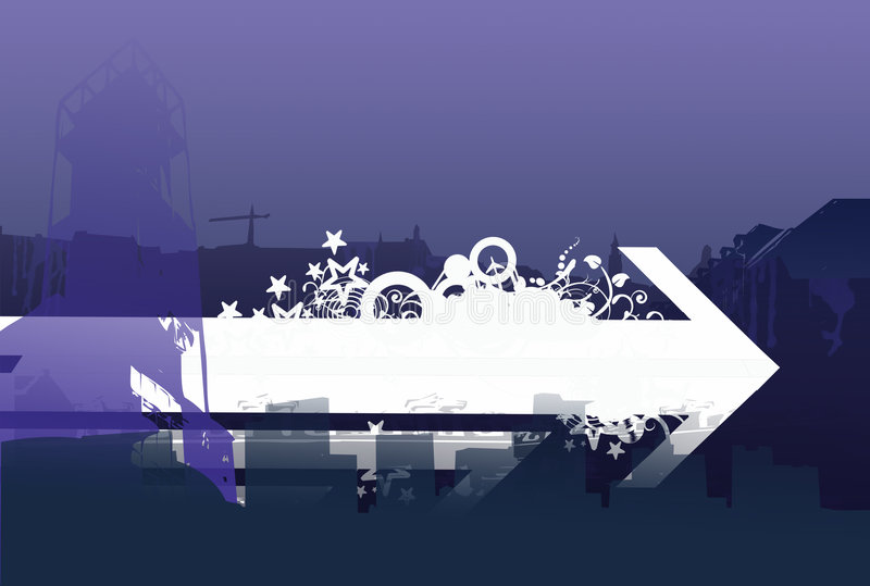 Linia horyzontu interfejs royalty ilustracja