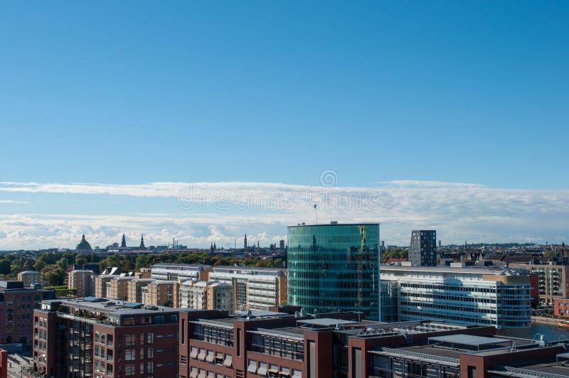 Linia horyzontu Kopenhaga Dani obrazy royalty free