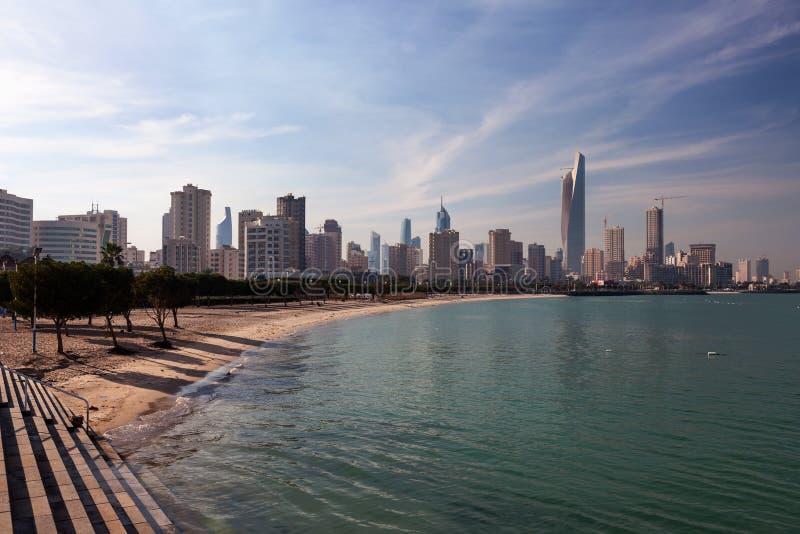 Linia horyzontu Kuwejt miasto zdjęcie stock