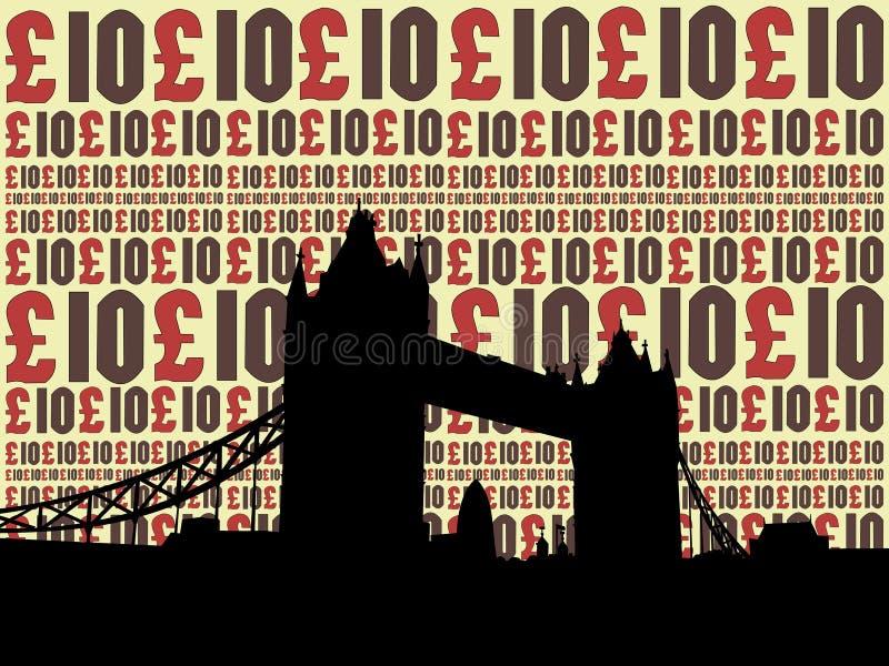 linia horyzontu london royalty ilustracja