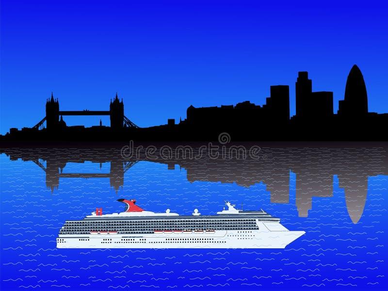 linia horyzontu london statku ilustracji