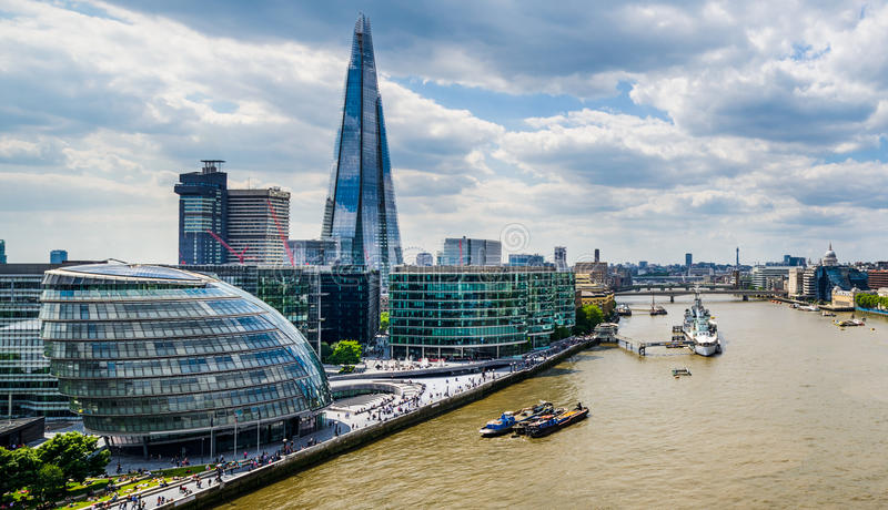 Linia horyzontu Londyn, UK fotografia stock