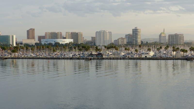 Linia horyzontu Long Beach w Los Angeles okręgu administracyjnym obraz stock