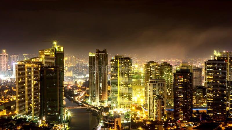 Linia horyzontu Manila przy półmrokiem obrazy royalty free