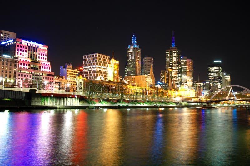 linia horyzontu Melbourne miasta. obrazy stock